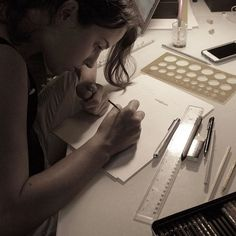 We love what we do. So Saturdays are also a creation day!  #afewjewels #jewel #jewelry #design #creation #saturday #morning #saturdaymorning #love #art #piece #draw #designer #tiharejacobs #lovewhatyoudo #pencil #ink #instamood #instagood #inspiration #bomdia #buenosdias #concentration #focus #dedication