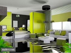 Lime Green Grey Colour Scheme The That Im Creating In My Spare Room
