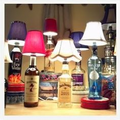 How to Make a Liquor Bottle Lamp - Anna Things and Thoughts