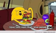 Sometimes yes. Food never hurts my feelings. Food always gives me love :-D