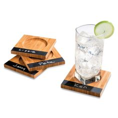 Chalkboard Drink Coasters-Set of 4