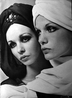 Dior turbans in Vogue April 1968