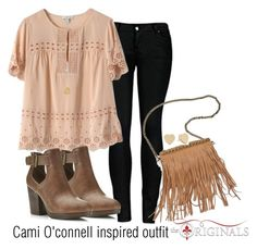 """""""Cami O'connell inspired outfit/TO"""" by tvdsarahmichele ❤ liked on Polyvore featuring 2LUV, J.Crew, Miss Selfridge, Patchington and Kate Spade"""