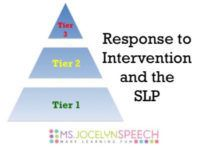 Response to Intervention and the SLP  Tips for supporting the RtI process as an SLP.  #msjocelynspeech #rti #slpeeps