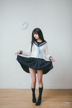 School Girl Fancy Dress, Japanese School Uniform Girl, School Girl Japan, School Girl Outfit, Girl Outfits, Fashion Outfits, Cute Kawaii Girl, Cute Girl Face, Cute Girl Photo