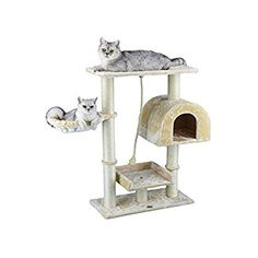 Go Pet Club Small Cat Tree Furniture Beige ** Find out more about the great product at the image link. (This is an affiliate link) #CatCondoTreeTower