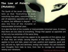 Universal Laws: Polarity