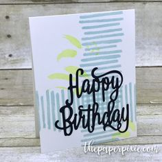 Stampin' Up! Playful Backgrounds Happy Birthday Thinlits