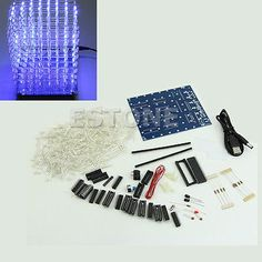Hot 3d #lightsquared #8x8x8 led cube #white led blue ray diy kit ,  View more on the LINK: http://www.zeppy.io/product/gb/2/371211776198/
