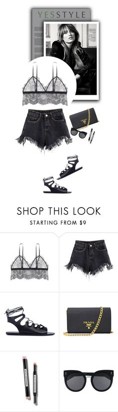 """YESSTYLE.com"" by monmondefou ❤ liked on Polyvore featuring Ancient Greek Sandals, Prada, STELLA McCARTNEY, yesstyle and prespring"