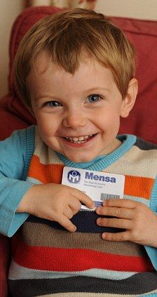 The boy aged two with Einstein's IQ: Why little Oscar is Britain's youngest boy to be accepted into Mensa