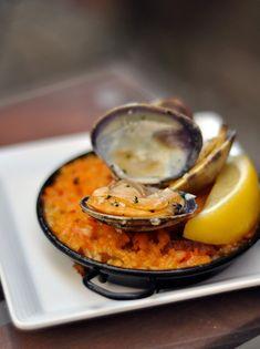 Mini Paella! Summer Seafood Appetizer #quevivaespaña