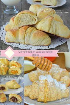 food of italy cookbook Mini Desserts, Low Carb Desserts, Mini Croissants, Italy Food, Savoury Cake, Ice Cream Recipes, Snacks, Sweet Bread, Chocolate Recipes