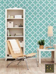"""Quatrefoil - self adhesive DIY wallpaper, home decor,  interior wall art design 23""""x 8' t039"""