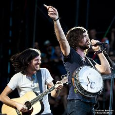 Beautiful brothers Scott and Seth Avett. The Avett Brothers. ACL. 10/14/12.