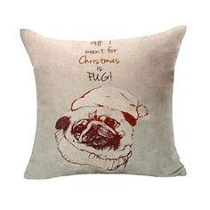 Ugly Pug Dog Decor Stuffed Throw Pillow Cushion Decorative Gift KKT