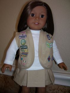 18 Inch Doll Clothes  Cadette Girl Scout Uniform by dressupdollie, $20.00 also daisy outfits