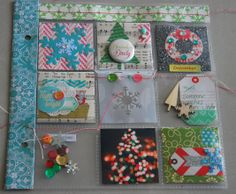 I used a coin collector's sheet here and cut it down to fit in my SS album. I went to town putting lots of cute embellishments in the pocket... by mel @ Studio Calico