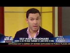 Interview On Fox News: Young Man Made Self-Millionaires Timothy Sykes, Stock Trading Strategies, Self Made Millionaire, Penny Stocks, Young Man, Stock Market, Interview, Fox, Knowledge