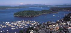 Favorite Place For Summer :  Friday Harbor aerial by Photography by Mark Gardner