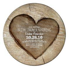 Rustic carved tree wood heart bridal shower card #rusticbridalshowerinvitations #countrybridalshowerinvitations Heart Wedding Invitations, Engagement Party Invitations, Rustic Invitations, Bridal Shower Invitations, Dinner Invitations, Invites, Invitation Ideas, Engagement Parties, Engagement Ideas