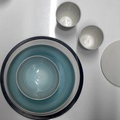 Jökla (Glacier) dinnerware - Icelandic design.  Loving the combination of color clean and beautiful.