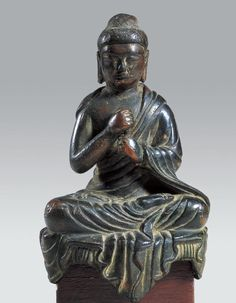 Vairocana Buddha Unified Silla, Late 8th C. / H. 12.0㎝  Vairocana Buddha is the guardian of the Buddhist sutras, which represent the ultimate truth in Buddhism, and is regarded as the main Buddha of the Avatamska Sutra. Unlike the sattva-style Vairocana Buddhas found in China and Japan, this Vairocana Buddha was made in the tathagata-type in Korea. In Korea, statues of Vairocana Buddha were first sculpted in the late 8th century during the Unified Silla Period, and they have been made ever…