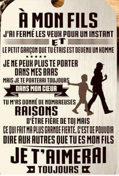 Phrase for a birthday of sons Bricolagefetedesmeres Cadeaufetedesmer Quote Citation, French Quotes, Positive Attitude, Positive Affirmations, Proverbs, Inspire Me, Quotations, Life Quotes, Art Quotes
