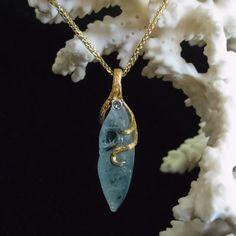 Denny Wong 18K Aquamarine Pendant