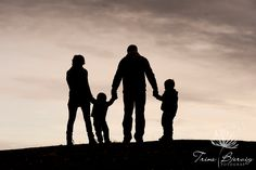 Silhouettes.  Family a long, long time ago.