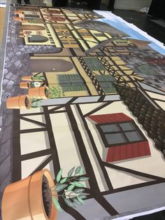 Covenant College School production 2016 Beauty and the beast set design