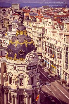 Madrid, Espana, Architecture in the inner city is a must see attraction while in Spain.