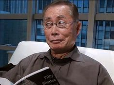 """""""George Takei reads."""" -- (And then likely posts something clever to his great Facebook page!)"""