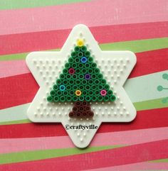 Christmas tree perler bead patterns