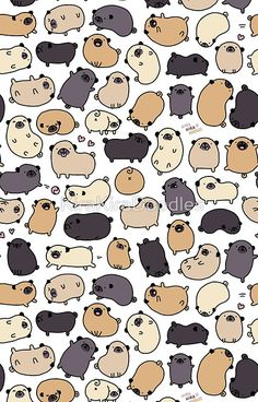 Pug along little doggies, Pug along. 2013 Cute Pug Vines of 2013 Part 3 Pug along little doggies, Pug along. Black Pug Puppies, Cute Puppies, Pug Wallpaper, Animals And Pets, Cute Animals, Pug Illustration, Pug Cartoon, Chibi, Baby Pugs