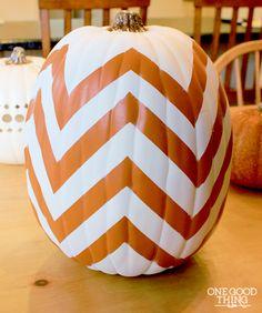 chevron halloween pumpkins
