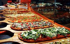 Cool Wedding Reception Pizza Buffet!