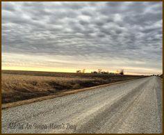 My North Iowa gravel road. #Iowa