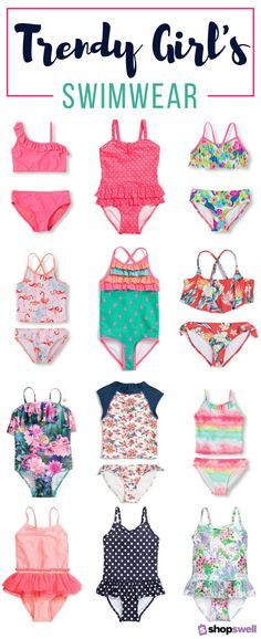 The latest in girl's swimwear for every budget. Most of the swimsuits are $20 or less! Click-through to shop the swim collection now.
