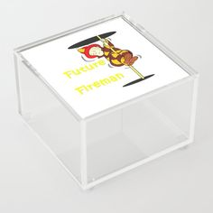 Future Fireman Acrylic Box by edream Acrylic Display Box, Acrylic Box, Clear Acrylic, Philadelphia Sports, Good Advice For Life, Storage Places, Display Boxes, Cute Gifts, Decorative Boxes