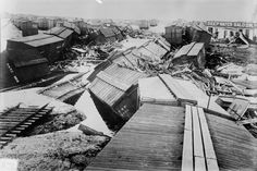 The Great Galveston Storm of 1900 destroyed two-thirds of the Texas city and heavily damaged surviving structures. It remains the most deadly natural disaster and worst hurricane in U. 1900 Galveston Hurricane, Texas Hurricane, Galveston Texas, Galveston Island, Road Trip Essentials, Road Trip Hacks, Road Trips, Hurricane History, Trends