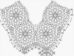 Szydełkowe prace: pattern of crochet tunic poncho (free)