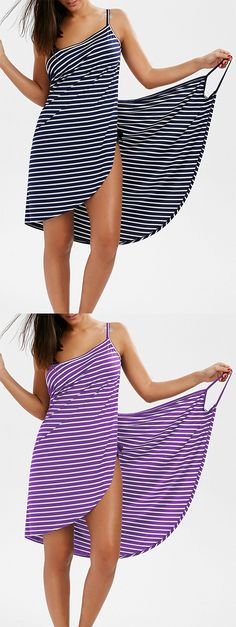 Striped Open Back Multiway Wrap Cover-ups Dress Fashion Beauty, Womens Fashion, Beachwear, What To Wear, Summer Outfits, Cover Up, Swimsuits, Swimwear, My Style