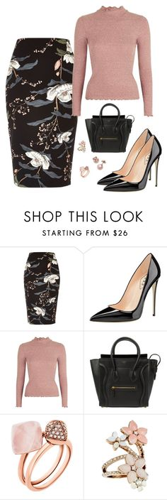 """""""Untitled #297"""" by loismo73 ❤ liked on Polyvore featuring River Island, Topshop, CÉLINE, Michael Kors, Accessorize and Kate Spade"""