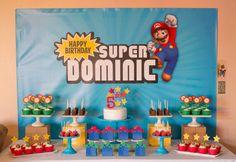 Super Mario Personalized Digital Backdrop .JPEG File via