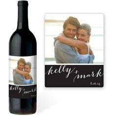 Black Photo Wine Bottle Labels