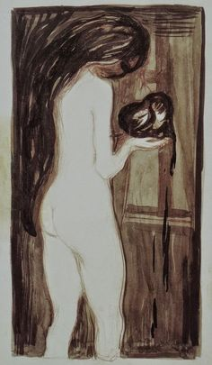 Edvard Munch - The Woman and the Heart, 1896