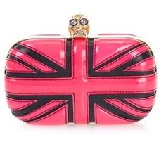43b854e9cff6c3 Alexander McQueen Hot Pink Leather Clutch Bag media gallery on Coolspotters.  See photos