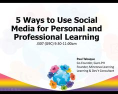 Busy Teachers' Guide to Learning through Social Media Busy Teachers, Co Founder, 5 Ways, Ph, Social Media, Posts, Learning, Business, Blog