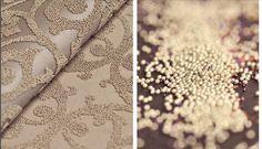 L'eleganza delle perle su un supporto tessuto non tessuto.